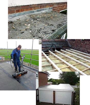 Flat roof montage